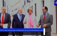 Mesa redonda sobre el Anteproyecto de Ley de la Administración Local en Llerena